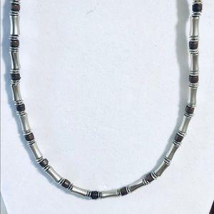 Vintage Silver Choker Necklace Panama Jack 17 Inch
